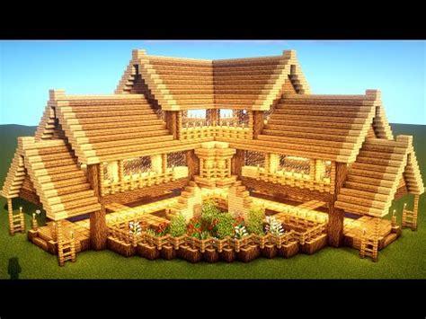 easy minecraft tutorial large oak house como construir una casa de supervivencia en minecraft