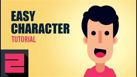 vector easy flat character illustrator tutorial zipup