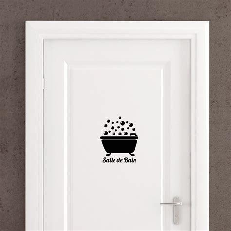 poser du carrelage mural cuisine sticker porte quot salle de bain quot bain bulles stickers portes salle de bain ambiance sticker