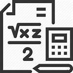 Math Formula Paper Calculate Icon Calculator Lesson