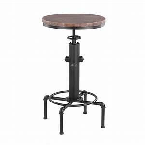 Table Bar Industriel : d s table de bar ikayaa style industriel en bois et acier ~ Teatrodelosmanantiales.com Idées de Décoration