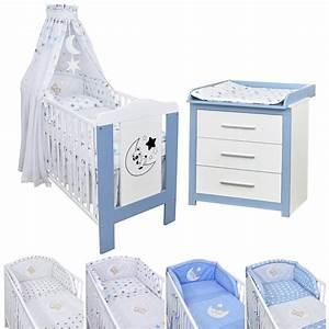 Kinderbett Und Wickelkommode Set : babyzimmer babybett teddy wickelkommode blau bettw sche set komplett ebay ~ Bigdaddyawards.com Haus und Dekorationen