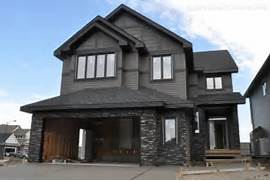 Modern Black House Bright Accents New To The Home Pinterest Dark Gray Houses Grey And Black