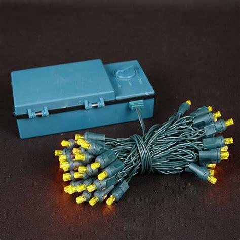 50 led battery operated christmas lights amber orange on