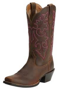 womens boots toe ariat womens up square toe cowboy boots powder brown