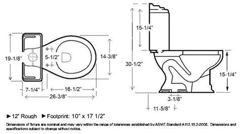 toilet dimensions plumbingsupply Toilet Dimensions