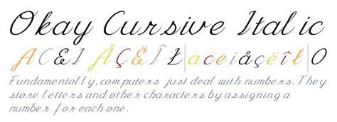 okay cursive italic fonts