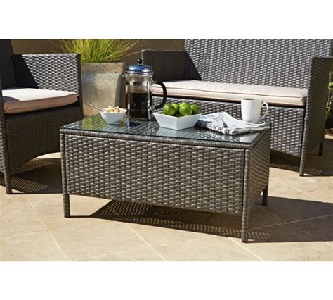 buy the collection rattan effect grey 3 seater highback