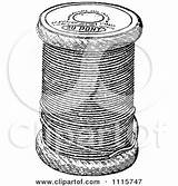 Thread Spool Sewing Clipart Retro Prawny Printable Poster sketch template