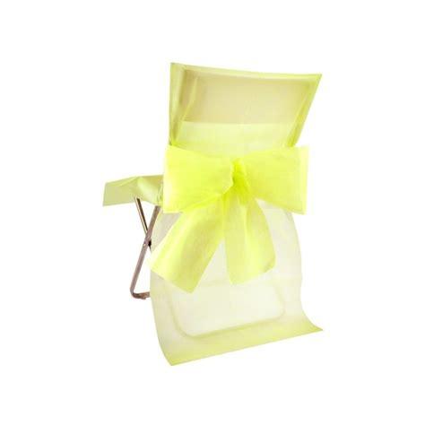 noeud de chaise housse de chaise intissé jaune avec noeud les 10