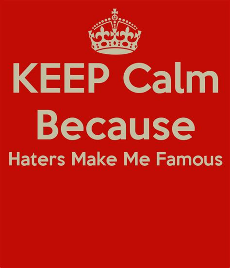 keep calm haters quotes