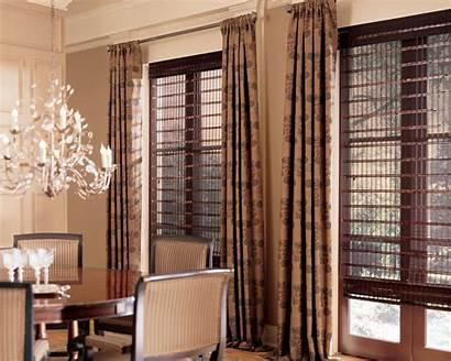 Window Drapery Treatments Woven Treatment Blinds Wood