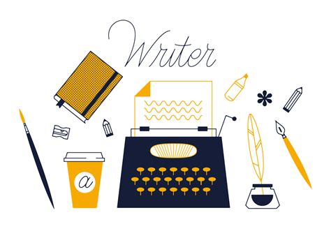 Writer Vector  Download Free Vector Art, Stock Graphics & Images