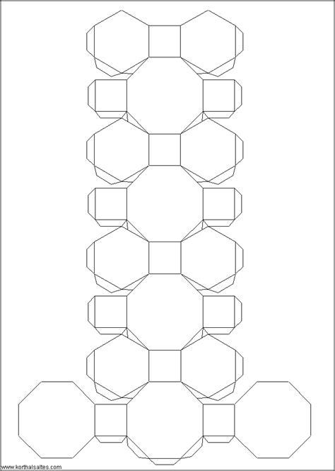 Truncated Cuboctahedron Template paper truncated cuboctahedron