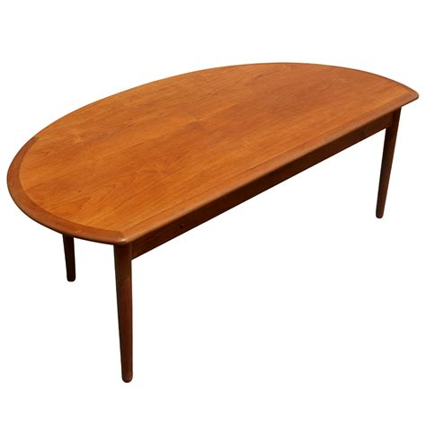 """The second half moon coffee table can also be unique. 60"""" Mid Century Modern Vintage Half Moon Coffee Table 