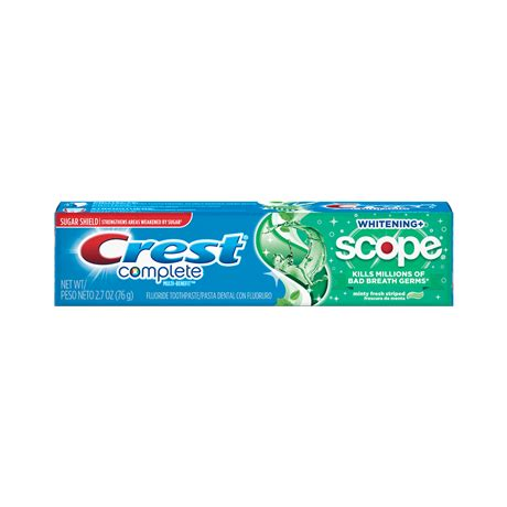 complete whitening plus scope toothpaste