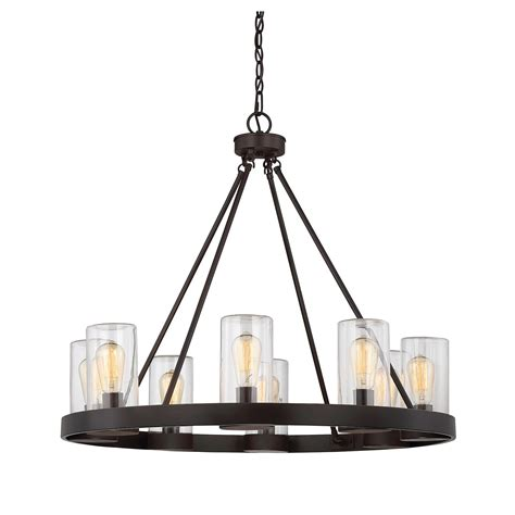 inman bronze eight light outdoor chandelier savoy