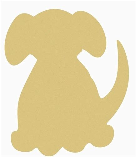 dog unfinished cutout wooden shape paintable wooden mdf diy craft