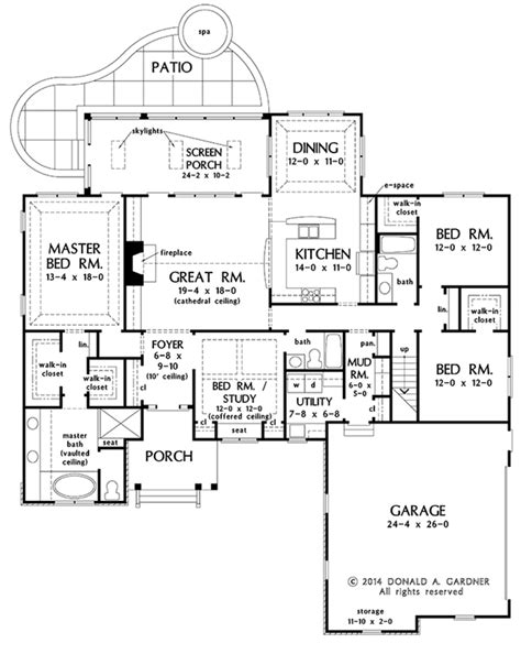 Craftsman Style House Plan 4 Beds 3 Baths 2331 Sq/Ft