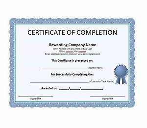 40 fantastic certificate of completion templates word With certification of completion template
