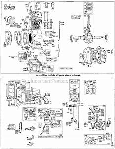 Briggs And Stratton 231401 Series Parts List And Diagram