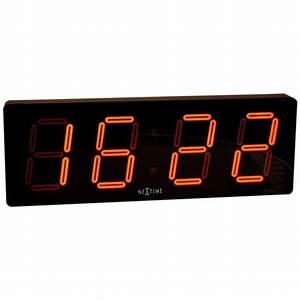 Horloge Pas Cher : horloge numerique murale topiwall ~ Teatrodelosmanantiales.com Idées de Décoration