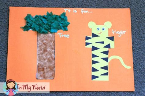 letter t arts and crafts for preschoolers preschool letter t in my world 45478