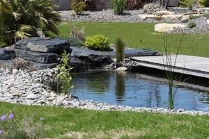 best jardin paysager avec galets pictures amazing house With beautiful amenagement jardin avec bassin 7 bassin de jardin