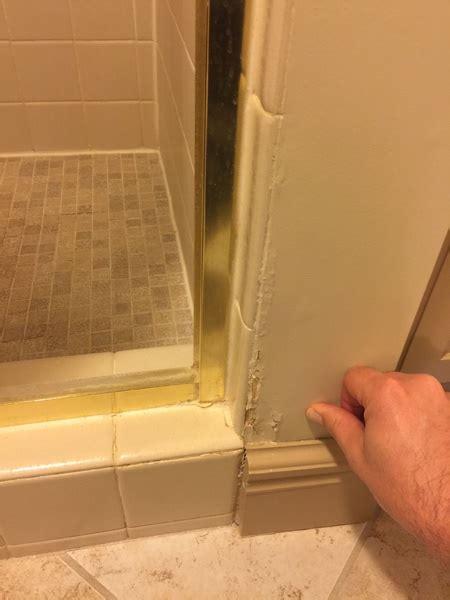 drywall disintegrating  shower drywall plaster