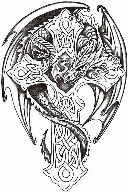 Celtic Dragon Tattoo Cross Designs Tattoos Thelob