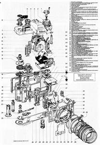 These Schematics Offer An Exploded View Of Old Nikon Slr Cameras