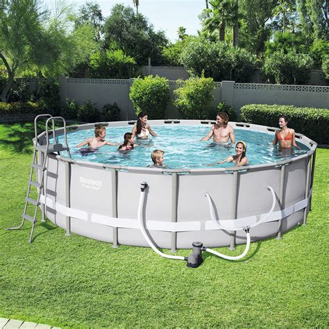 bestway steel pro frame  ground swimming pool ft