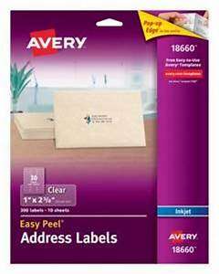 Avery 5 8in Clear Address Labels Tar