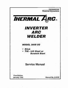 Thermal Arc 300s Cc Inverter Welder Sm Service Manual