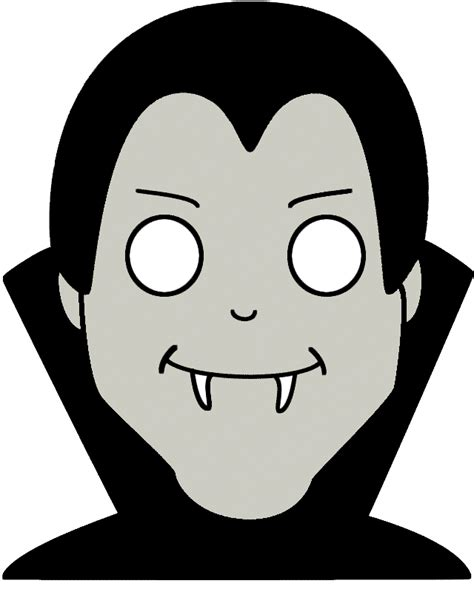 halloween vampire mask paper craft color template