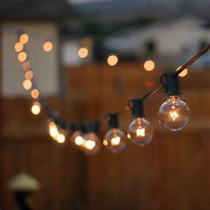 25ft g40 globe bulb string lights with 25 clear ball With outdoor string lights no bugs