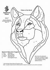Glass Stained Patterns Wolf Coloring Pattern Spectrum Mosaic Pages Intarsia Quilt Dog Template Vitrail Wolves Designs Animals Sketch Stain Faux sketch template