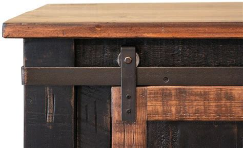 Barn Door Tv Cabinet Hidden Sliding Set Rustic Window