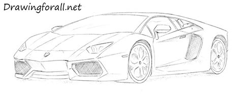 Pencil And In Color Drawn Car