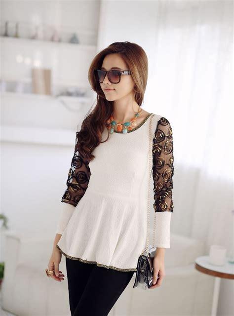 blouse korea wanita brokat cantik model terbaru jual