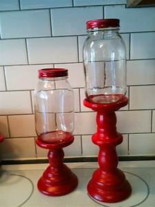 diy mason jar candy stands kitchen tips ideas things With what kind of paint to use on kitchen cabinets for painted mason jar candle holders