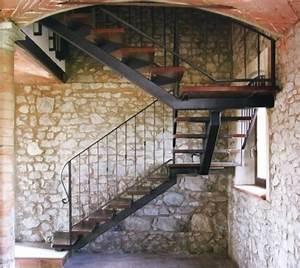 Escalier Fer Et Bois : fer et bois escalier fer pinterest escaliers bois ~ Dailycaller-alerts.com Idées de Décoration