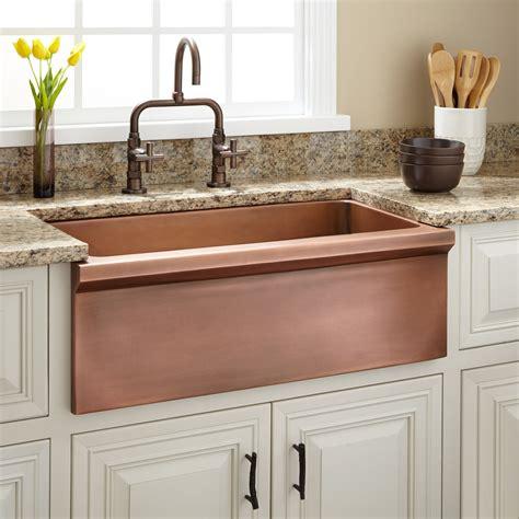 30 Bria Copper Farmhouse Sink Kitchen