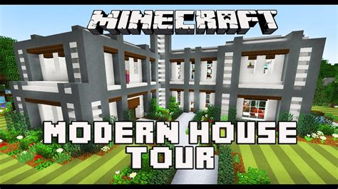 minecraft modern house  youtube