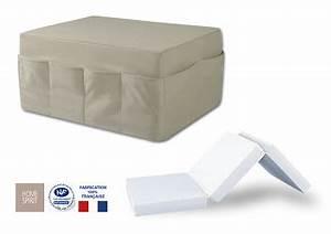 Pouf Convertible Lit : pouf pocket lit convertible home spirit en dstockage ~ Teatrodelosmanantiales.com Idées de Décoration