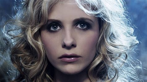 sarah michelle gellar closeup portrait hd wallpaper