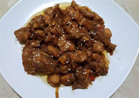 Sajikan teriyaki ayam suwir dengan taburan wijen yang sudah resep teriyaki beef hokben. Resep Ayam Teriyaki ala Hokben oleh Firda Maulidia - Cookpad