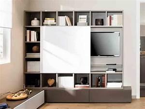 ou mettre la tele dans le salon les salon television With meuble pour cacher tv