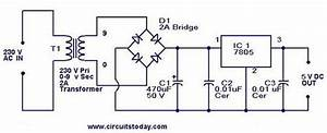 5v Power Supply Using 7805