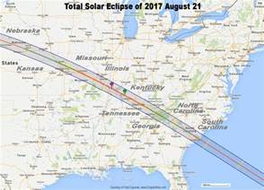 Map of Solar Eclipse 2017 Path